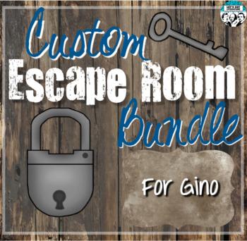 Custom Escape Room Bundle for Gino