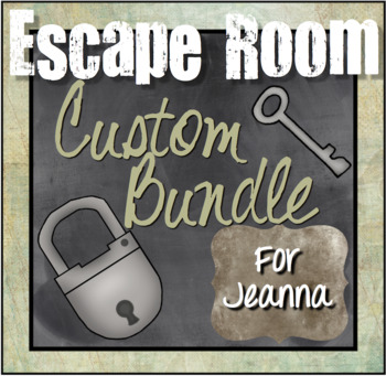 Custom Escape Room Bundle for Jeanna