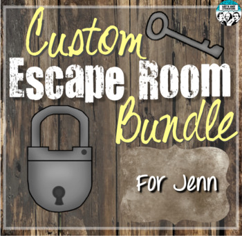 Custom Escape Room Bundle for Jenn