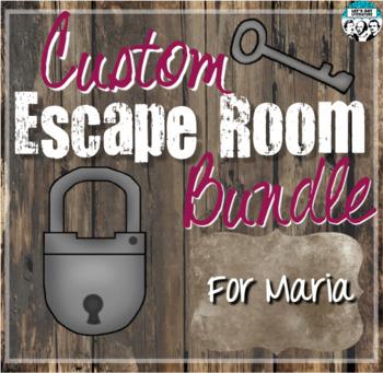 Custom Escape Room Bundle for Maria