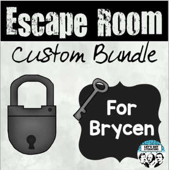 Custom Escape Room Bundle for Stacia