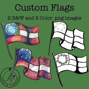 Custom Flags Clip Art