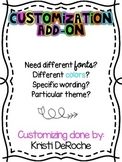 Custom Fonts, Wording or Color on Products in my Store