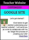 Custom GOOGLE Teacher Website