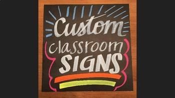 Custom Hand-Painted Classroom Signs