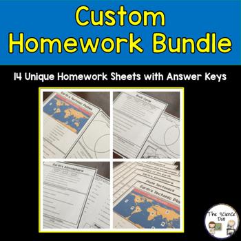 Custom Homework Bundle - Heather H.