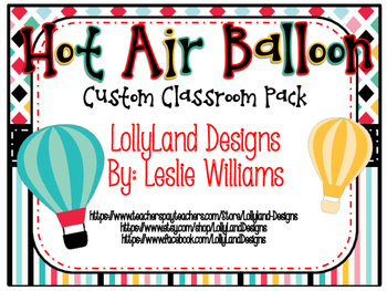 Custom Hot Air Balloon Pack-Cassandra F.
