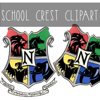 This is a graphic of Dynamic Printable Hogwarts House Crests