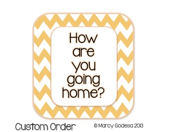 {Custom} How Are You Going Home?