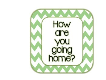 Custom How Are You Going Home Chart