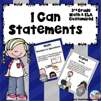 Custom I Can Statements by Teaching Superkids | Teachers Pay Teachers