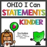 Ohio Standards I Can Statements Kindergarten