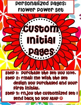 "Custom Initial Pages: Flower Power (""T"" sample)"