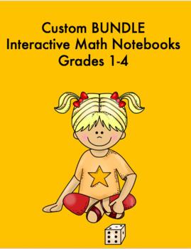 Custom Interactive math notebook BUNDLE Grades 1-4