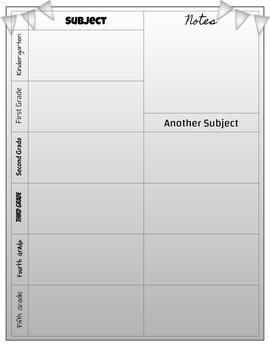 Custom Lesson Planner 2018-2019