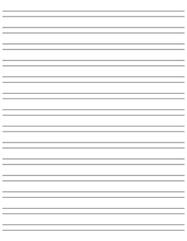 Custom Lined Paper for Writer's Workshop