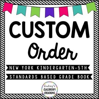 Custom Listing -  Excel Gradebook New York Standards K-5 For E.C.