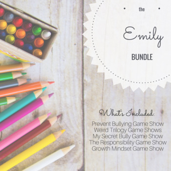 Custom Listing for Emily *Interactive Game Show Bundle