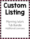 Custom Listing for Morning Work Tubs Bundle