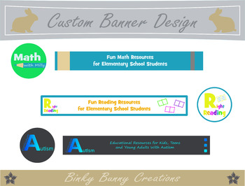 Custom Logo, Banner and Quote Box Design for TPT Sellers