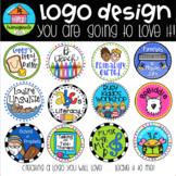 Custom Logo Design Circle {P4 Clips Trioriginals Digital Clip Art}