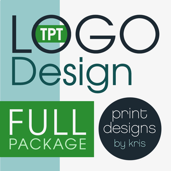 Custom Logo Design • FULL Package • TPT Logo Design • TPT Shop Makeover