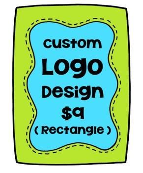 Custom Logo Design Rectangle {P4 Clips Trioriginals Digital Clip Art}