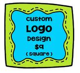 Custom Logo Design Square {P4 Clips Trioriginals Digital Clip Art}