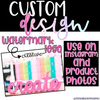 Custom Logo Design   Watermark Logo