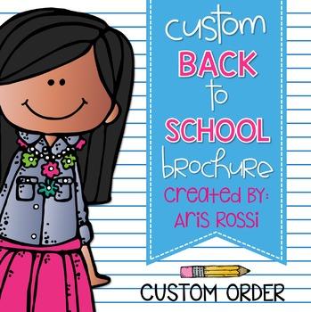 Custom Made Back to School Brochure