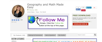 Custom-Made Rotating Banner for Your TPT Page