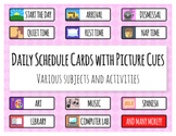 Daily Schedule Cards with Picture Cues