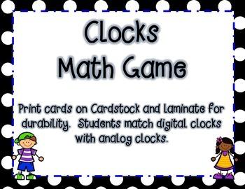Matching Clocks Fun Game
