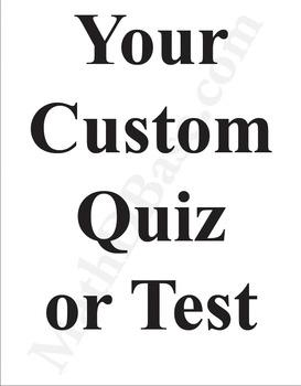 Custom Math Test in 48 Hours