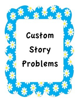 Custom Math Word Problems