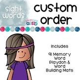 Custom Memory Word Playdoh & Word Building Mats