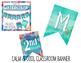 Custom Mini Classroom Decor Pack {Calm & Cool Watercolor}