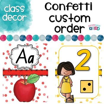 Custom NSW Font Confetti Themed Set