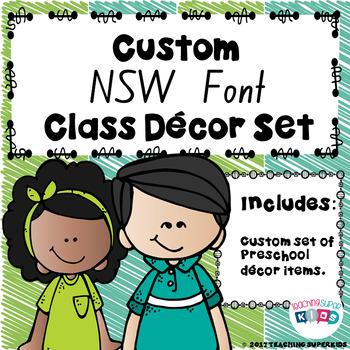 Custom NSW Font Lime and Teal Bundle