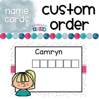 Custom Name Cards Boom Learning