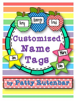 Custom Name Tags for Lockers, Jobs, Attendance, etc