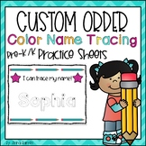 Name Writing Practice (Color Tracing) Custom Order