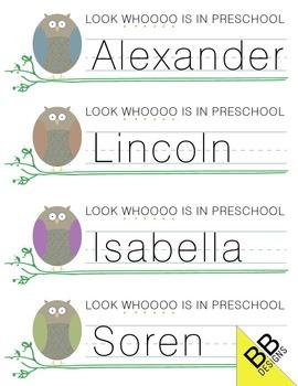 *Owl Custom Nametags
