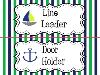Custom Nautical Classroom Jobs