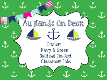 Custom Nautical Classroom Jobs
