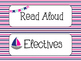 Daily Nautical Schedule Cards - Navy & Pink