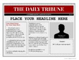 Custom Newspaper Template - Modern Newspaper - EDITABLE fe
