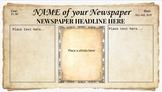 Custom Newspaper Template - Vintage Newspaper - feat Googl