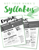 Custom Nontraditional Syllabus #2  (software: InDesign/Luc
