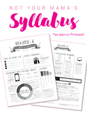 Custom Nontraditional Syllabus (software: Adobe InDesign/L